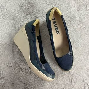 Tsubo Cas-letic Casual Athletic Sneaker Wedge 9.5